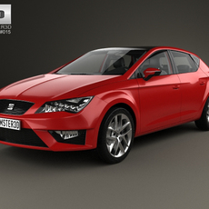 Seat Leon FR 5-door hatchback with HQ interior and engine 2013 3D Model