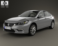 Honda Accord (Inspire) with HQ interior 2013 3D Model