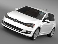 Volkswagen Golf TDI 5d 2015 3D Model