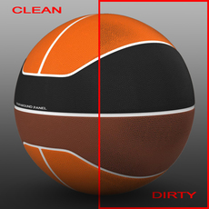 Basketball ball euro tricolor 3D Model