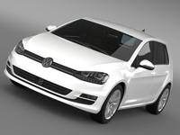 VW Golf TDI 4MOTION 5d Typ 5G 2013 3D Model
