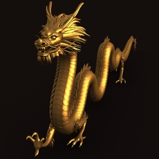 Asian Chinese Dragon 1 3D Model