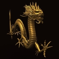 Asian Chinese Dragon 2 3D Model