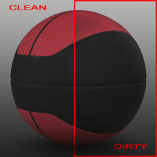 Basketball ball euro red-black 3D Model