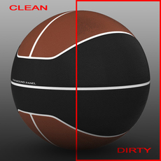 Basketball ball euro brown-black 3D Model