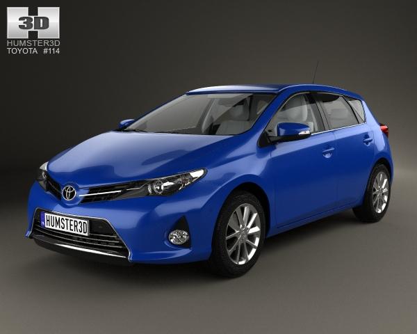 Toyota Auris hatchback 5-door with HQ interior 2013 3D Model