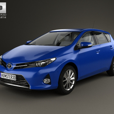Toyota Auris hatchback 5-door with HQ interior 2013 3D Model