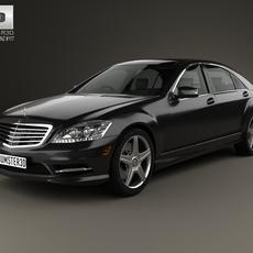 Mercedes-Benz S-Class (W221) with HQ interior 2013 3D Model