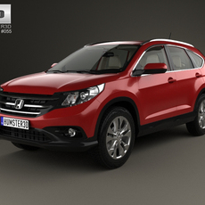 Honda CR-V EU with HQ interior 2012 3D Model