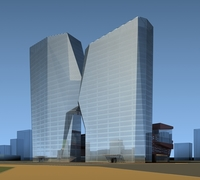 High-Rise Office Building 064 3D Model