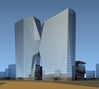 High-Rise Office Building 064 3D Model