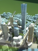 High-Rise Office Building 069 3D Model