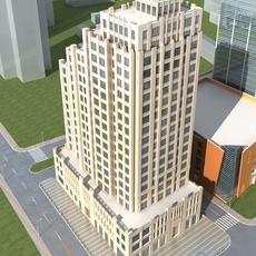 High-Rise Office Building 070 3D Model