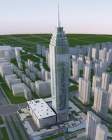 High-Rise Office Building 071 3D Model