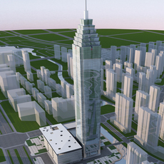 High-Rise Office Building 071 3D Model