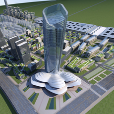 High-Rise Office Building 072 3D Model