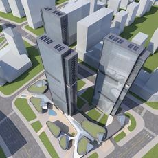 High-Rise Office Building 073 3D Model
