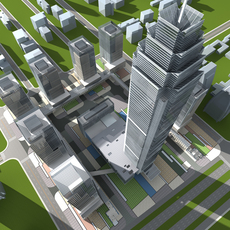 High-Rise Office Building 074 3D Model