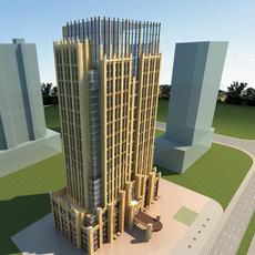 High-Rise Office Building 075 3D Model