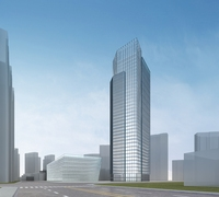 High-Rise Office Building 076 3D Model