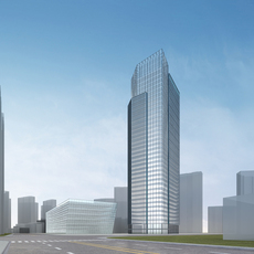 High-Rise Office Building 076 3D Model