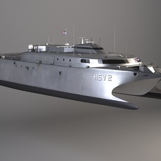 US Navy HSV-2 Swift 3D Model