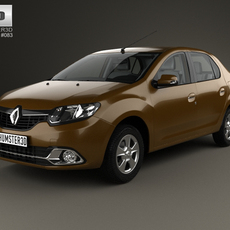 Renault Logan sedan (Brazil) with HQ interior 2013 3D Model