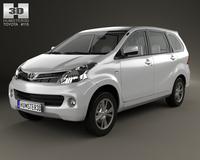 Toyota Avanza with HQ interior 2012 3D Model