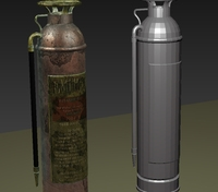 Fire extinguisher game ready 3D Model