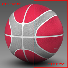 Basketball ball EBA red 3D Model