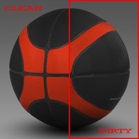 Basketball ball EBA black 3D Model