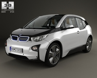 BMW i3 with HQ interior 2014 3D Model