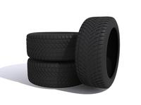 Car Tires 3D 3D Model