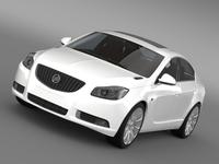 Buick Regal FlexFuel 2011-2013 3D Model