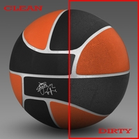 Basketball ball euro black 3D Model
