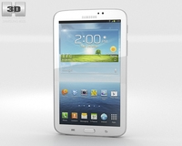 Samsung Galaxy Tab 3 7-inch White 3D Model