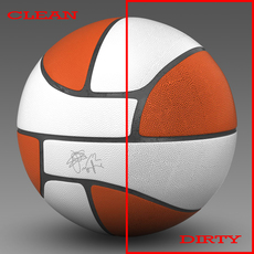 Basketball ball Euro white 3D Model