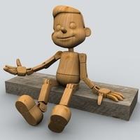 Wooden Puppet 1 3D Model