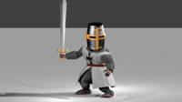 Free Dark Templar Knight 3D Model