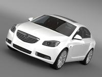 Opel Insignia Hatchback 2008-13 3D Model