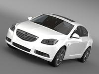 Opel Insignia Turbo 2008-13 3D Model