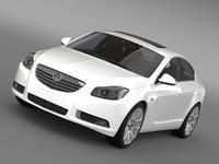 Vauxhall Insignia ecoFlex 2008-13 3D Model