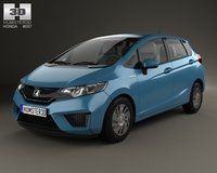 Honda Fit (Jazz) 2014 3D Model