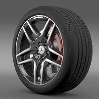 AMG Mercedes Benz S 500  wheel 3D Model