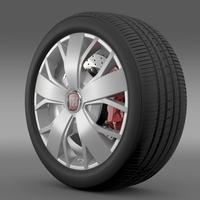 Fiat Ducato Van L2H2 wheel 3D Model