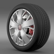Fiat Ducato Van L2H2 wheel 3D Model