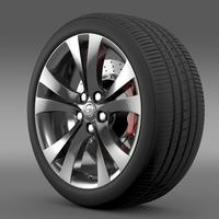 Opel Insignia wheel 3D Model