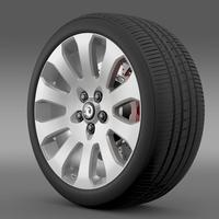 Vauxhall Insignia wheel 3D Model