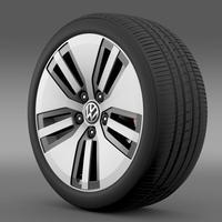 Volkswagen E Golf wheel 3D Model