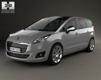 Peugeot 5008 2014 3D Model